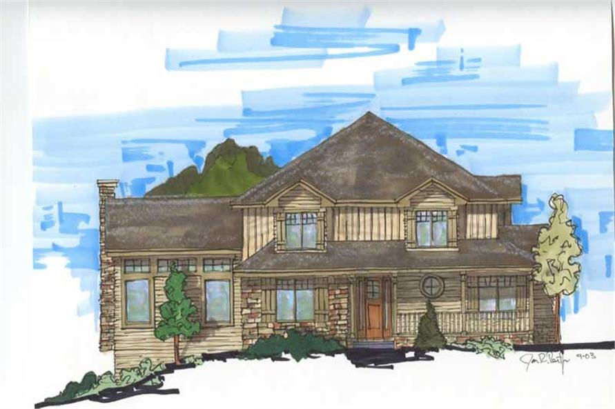4-Bedroom, 3144 Sq Ft Craftsman House Plan - 161-1011 - Front Exterior