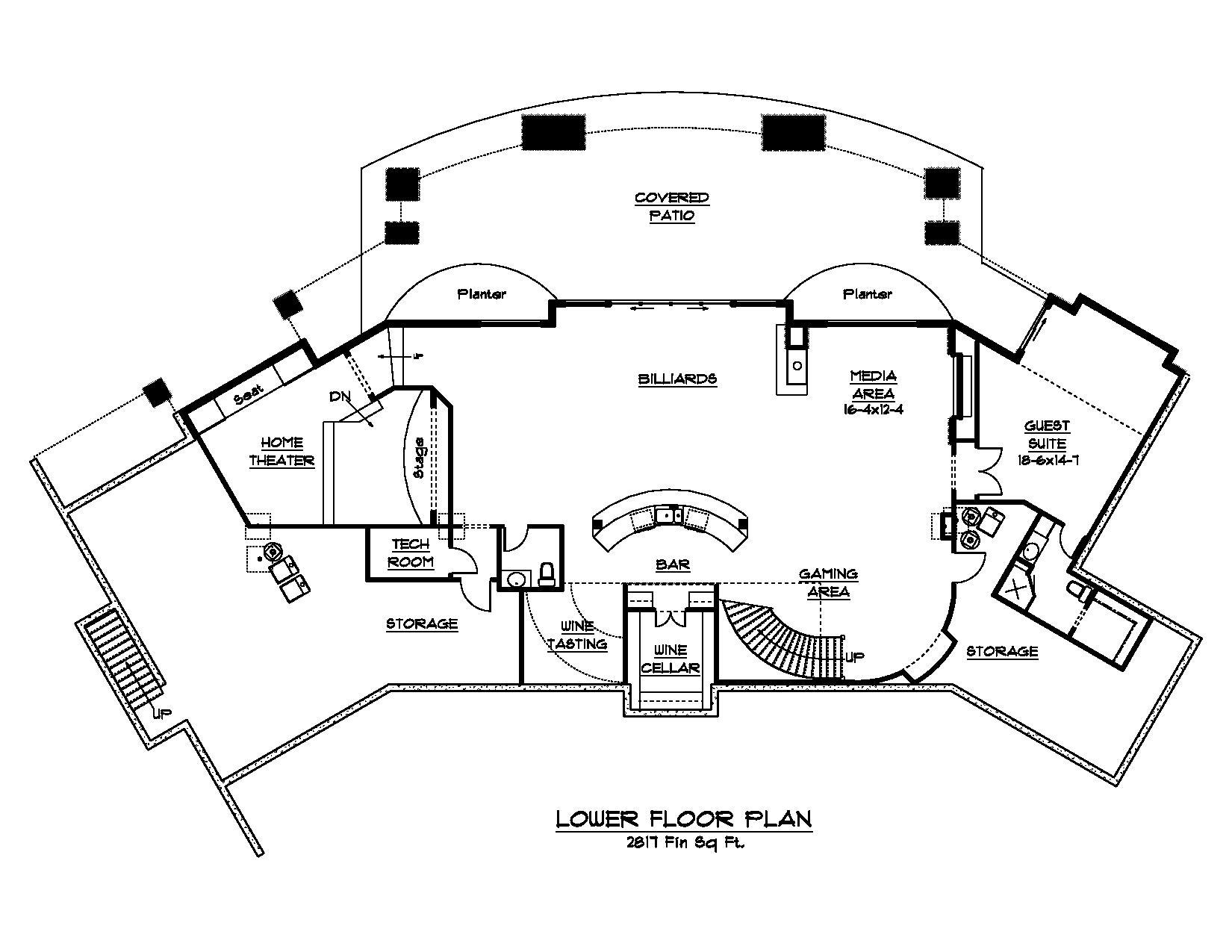 Craftsman Floor Plans With Basement: Luxury Craftsman Home Plan With 4 Bedrooms