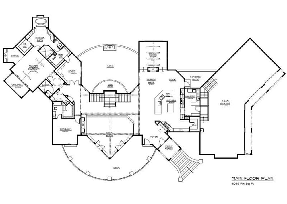 CHALET HOUSE PLAN FLOOR PLAN