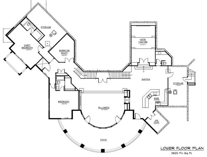 4 Bedrm 8095 Sq Ft Craftsman House Plan 161 1021
