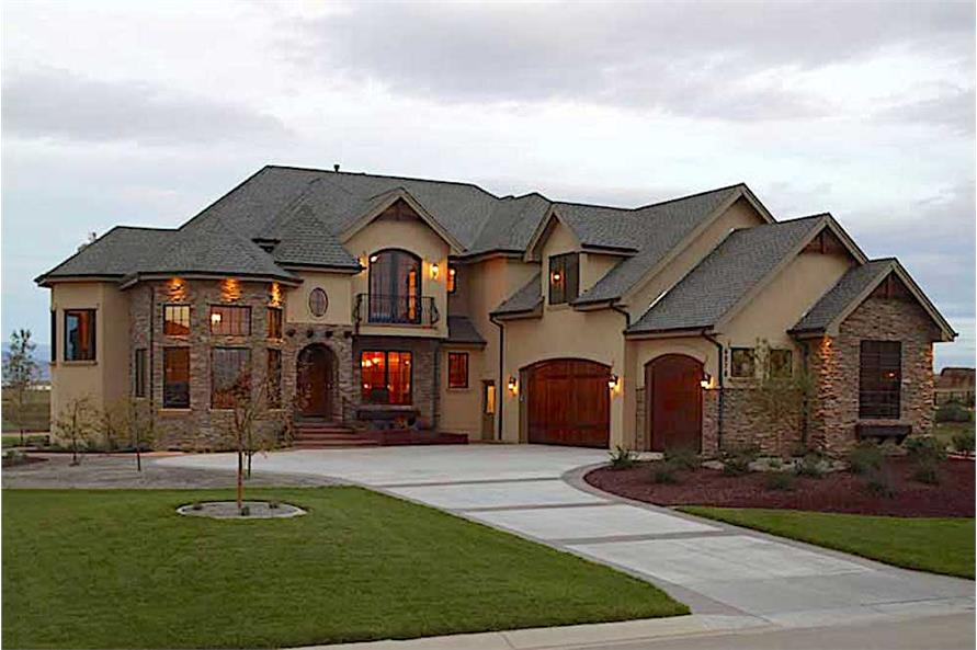 5-Bedroom, 5711 Sq Ft Country Plan - 161-1022 - Front Exterior
