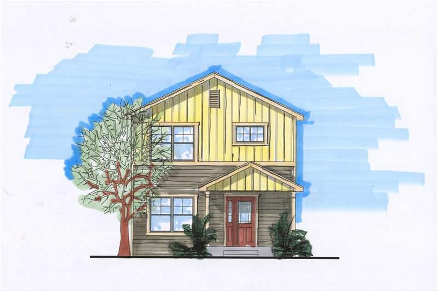 2-Bedroom, 1739 Sq Ft Craftsman Home Plan - 161-1025 - Main Exterior