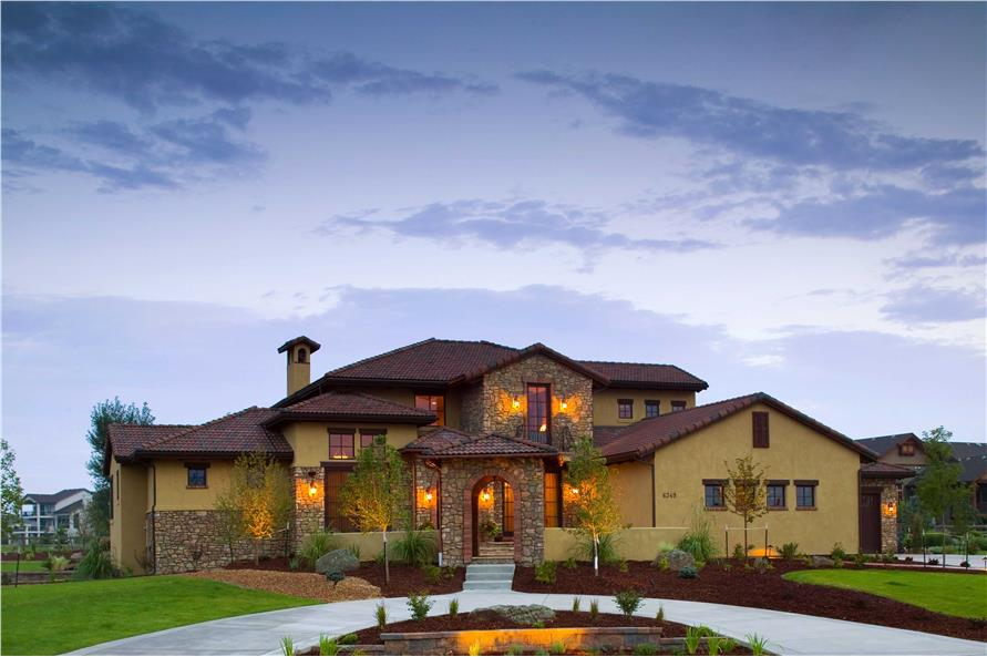 5-Bedroom, 6041 Sq Ft Luxury House Plan - 161-1026 - Front Exterior