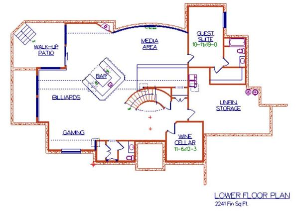 Floor Plan Basement for luxury house plans Cerreta