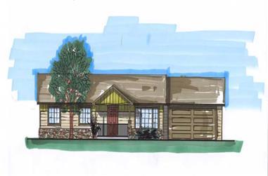 3-Bedroom, 2100 Sq Ft Ranch Home Plan - 161-1029 - Main Exterior