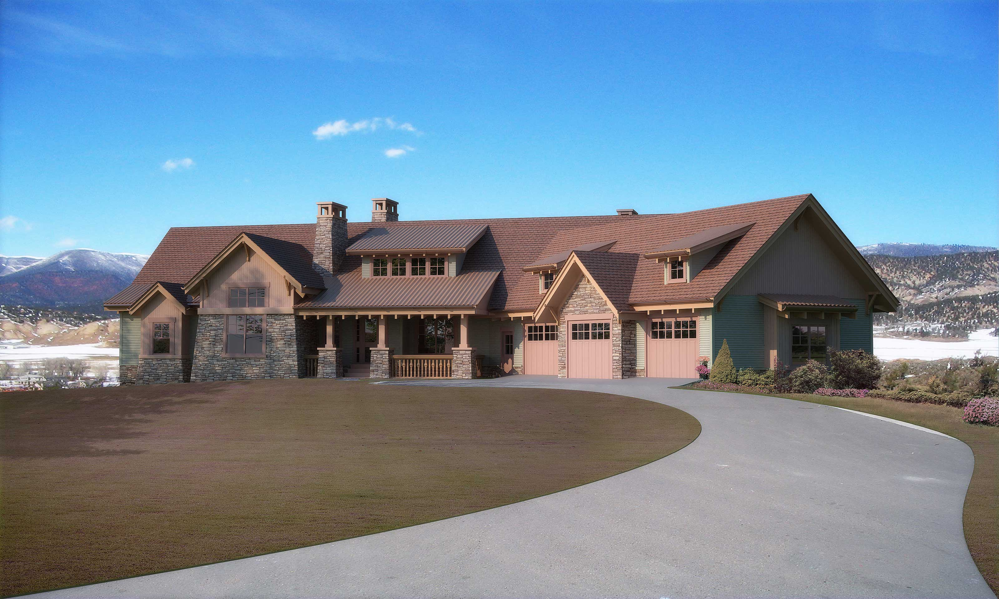 Country House Plan - 5 Bedrms, 4.5 Baths - 5723 Sq Ft - #161-1031