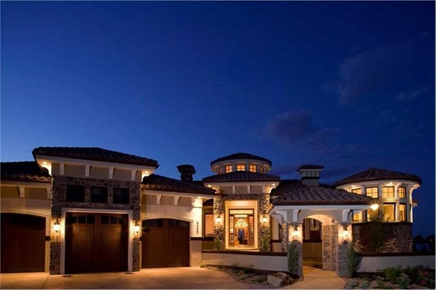 Home at Night of this 4-Bedroom,7805 Sq Ft Plan -7805