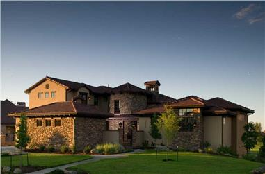 5-Bedroom, 6037 Sq Ft Luxury Home Plan - 161-1037 - Main Exterior