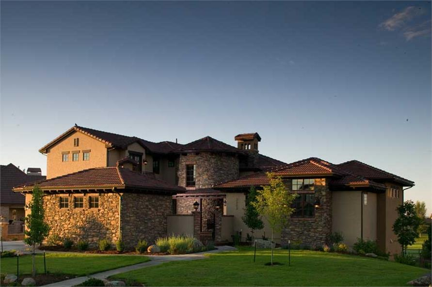 This is a color photo of these Tuscan House Plans.