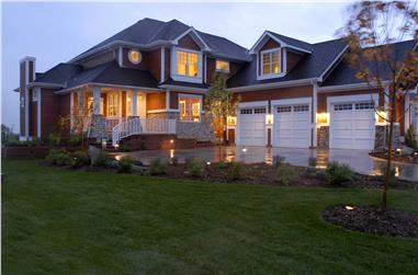 Color photograph of Shingle Style / Craftsman House Plan #161-1038.