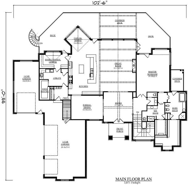 House plans and design house plans single story with basement Single floor house plans with basement