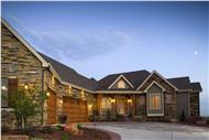 Luxury House Plans RF-1360 color rendering.