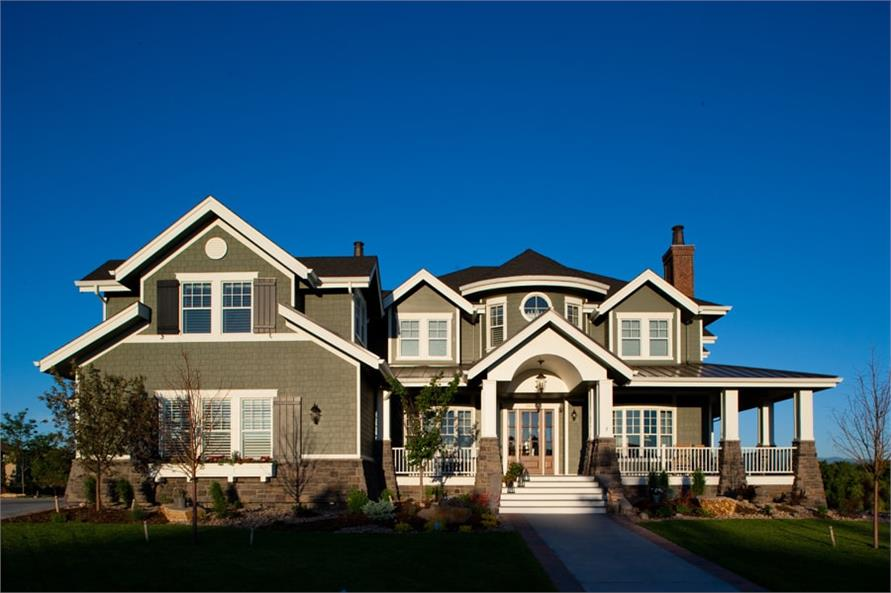 Home Exterior Photograph of this 6-Bedroom,10266 Sq Ft Plan -10266