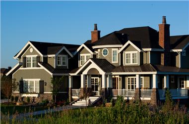 6-Bedroom, 10266 Sq Ft Craftsman Home Plan - 161-1044 - Main Exterior