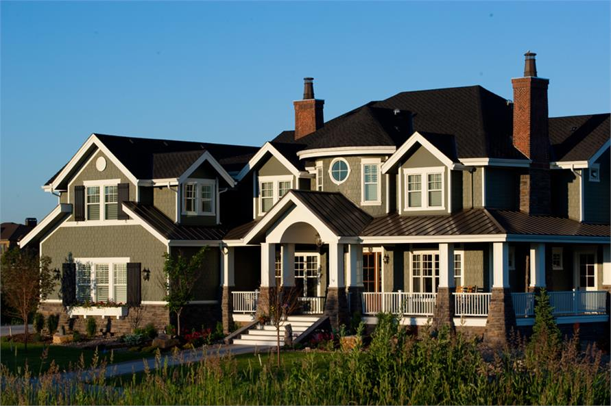House Plan #161-1044: Luxury Home in Craftsman-Shingle Style | TPC
