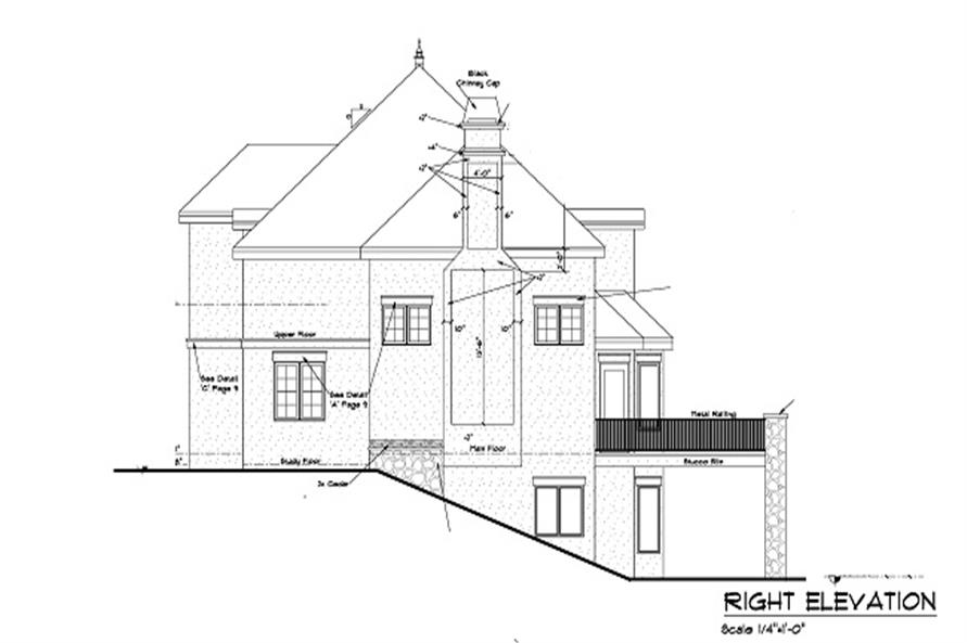 Home Plan Right Elevation of this 5-Bedroom,5613 Sq Ft Plan -161-1047
