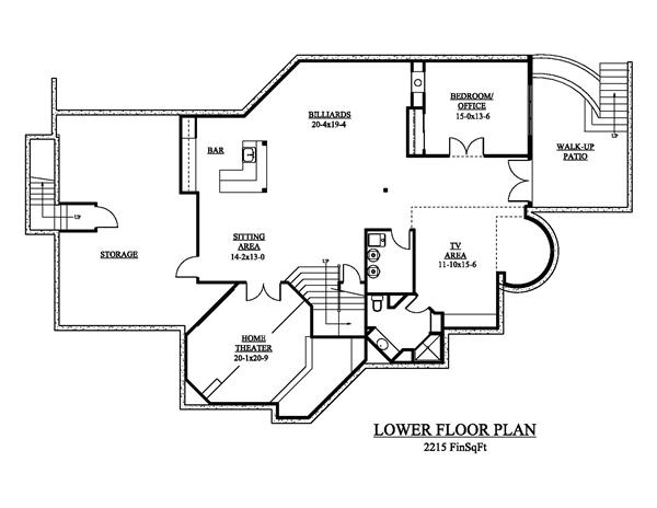 161-1048 house plan lower floor