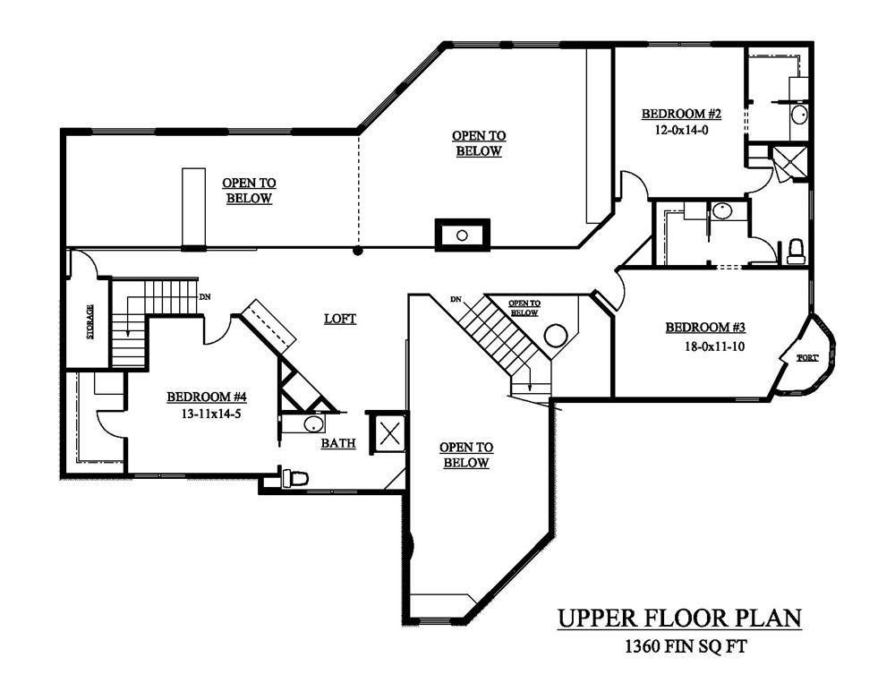 161-1048 house plan second floor