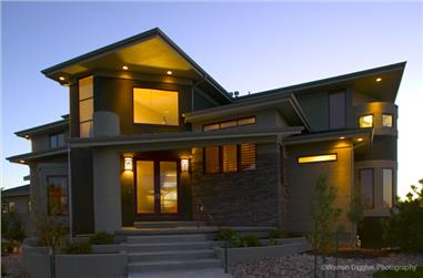 5-Bedroom, 6495 Sq Ft Contemporary Home Plan - 161-1048 - Main Exterior