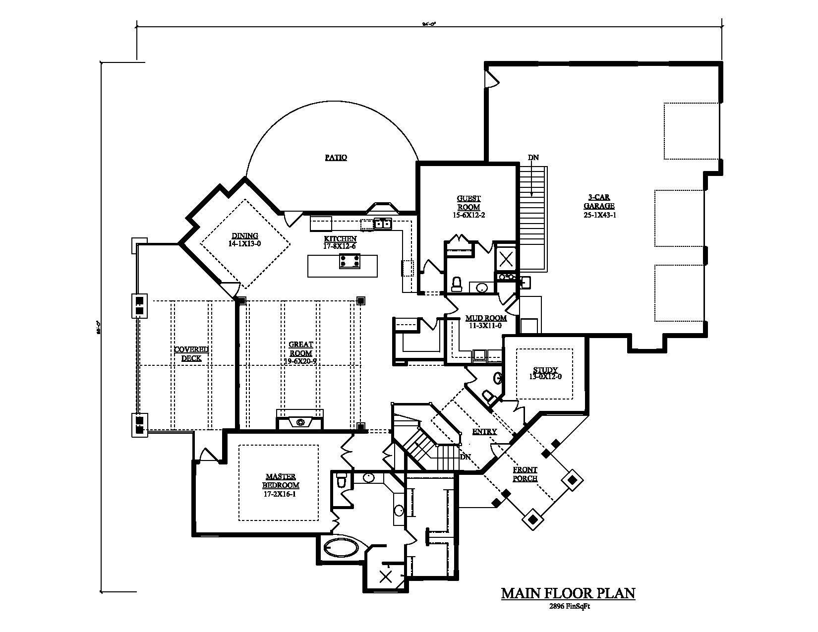 Craftsman luxury ranch texas style house plans house plans for Texas ranch house floor plans