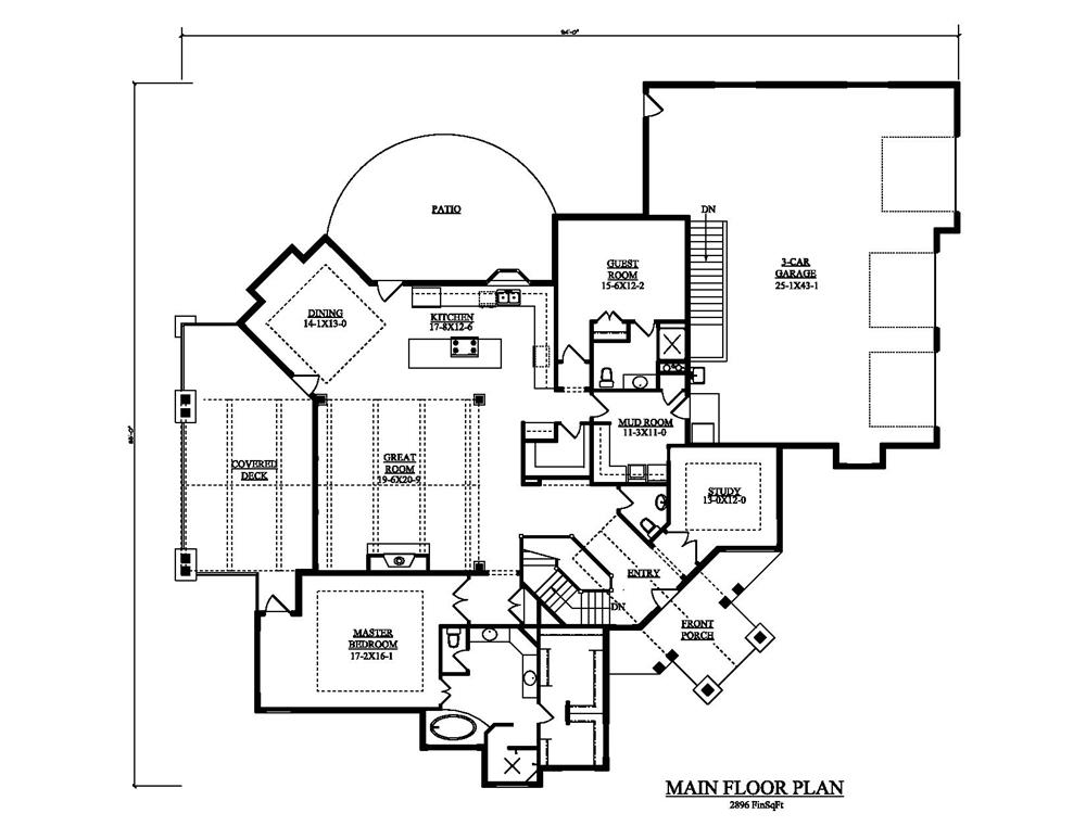 161-1049 house plan main level