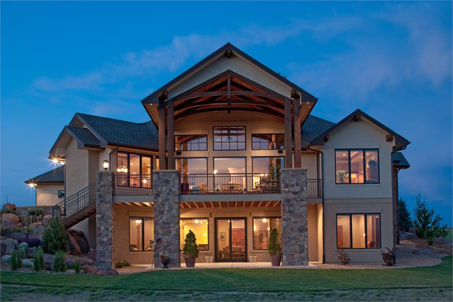 Brilliant Western Craftsman Home 4 Bedrms 4 5 Baths 4936 Sq Ft Plan 161 1049 Download Free Architecture Designs Grimeyleaguecom