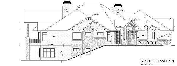 161-1049: Home Plan Front Elevation