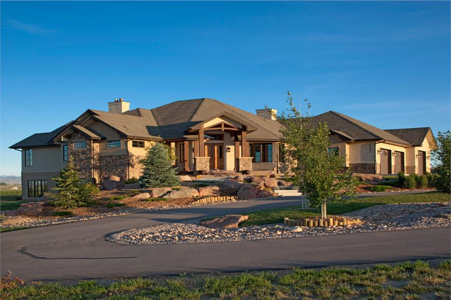 Craftsman luxury ranch texas style house plans house plans for Luxury craftsman style house plans