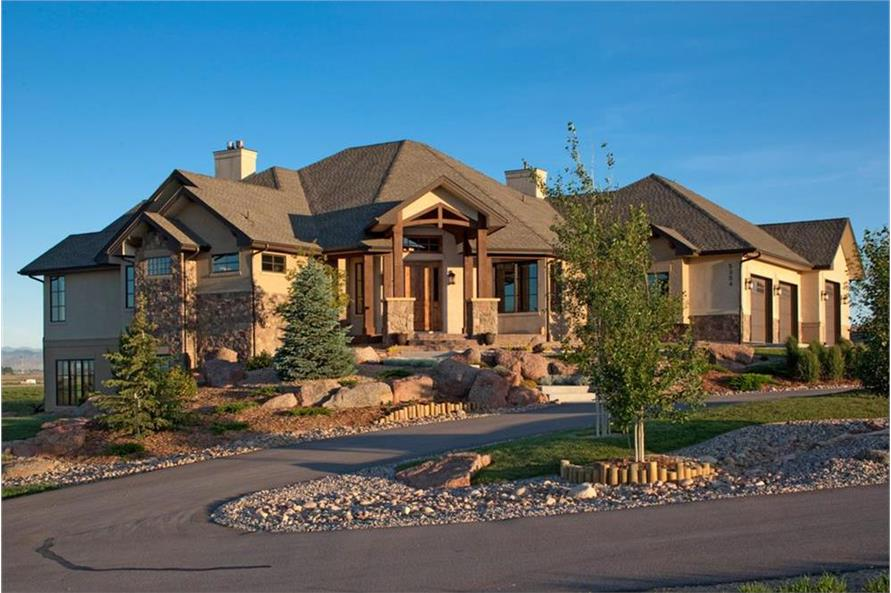 4-Bedroom, 4936 Sq Ft Craftsman Home Plan - 161-1049 - Main Exterior