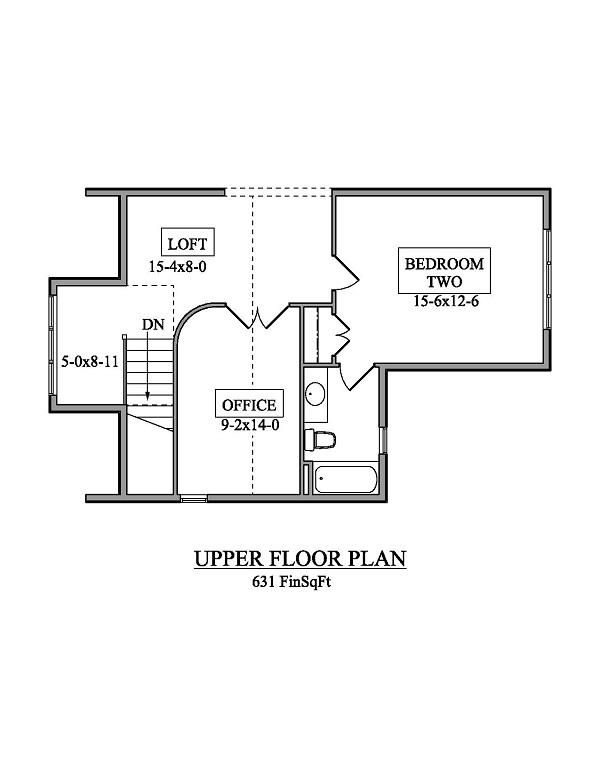 161-1050 house plan second floor