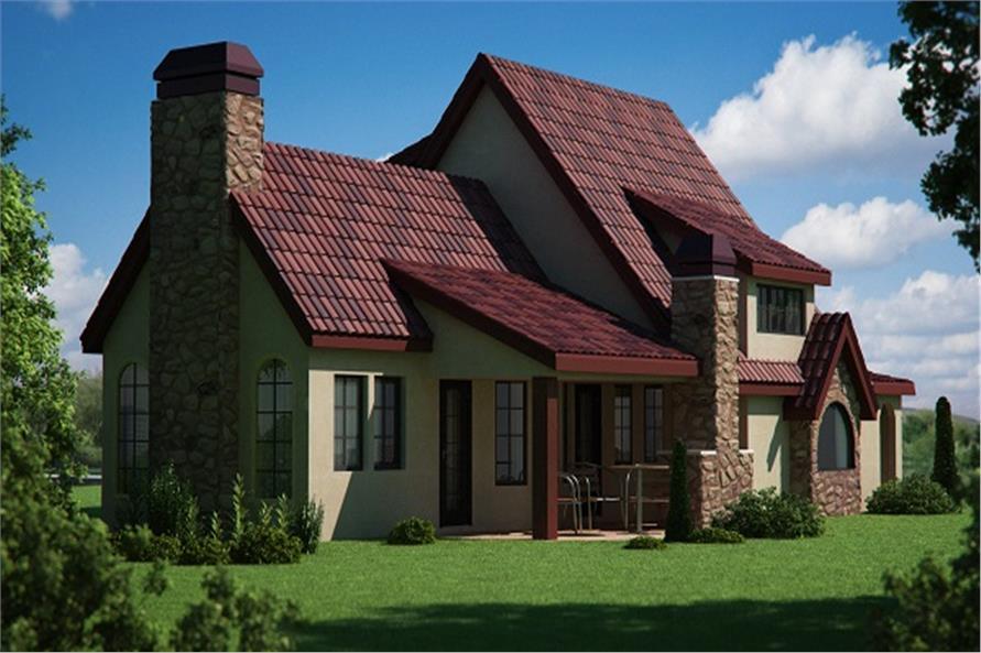 161-1050 house plan rear