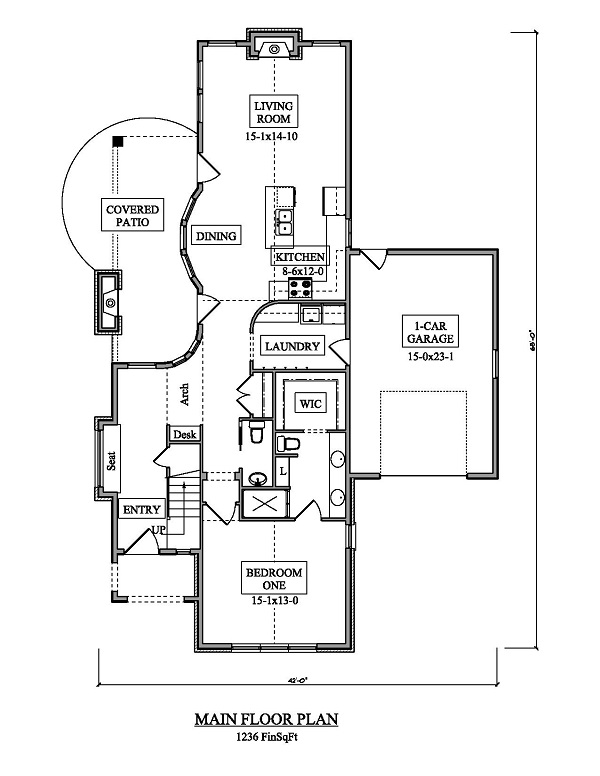 161-1050 house plan first floor