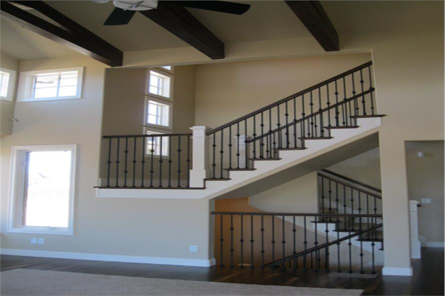 Stair case of this 4-Bedroom,3307 Sq Ft Plan -3307