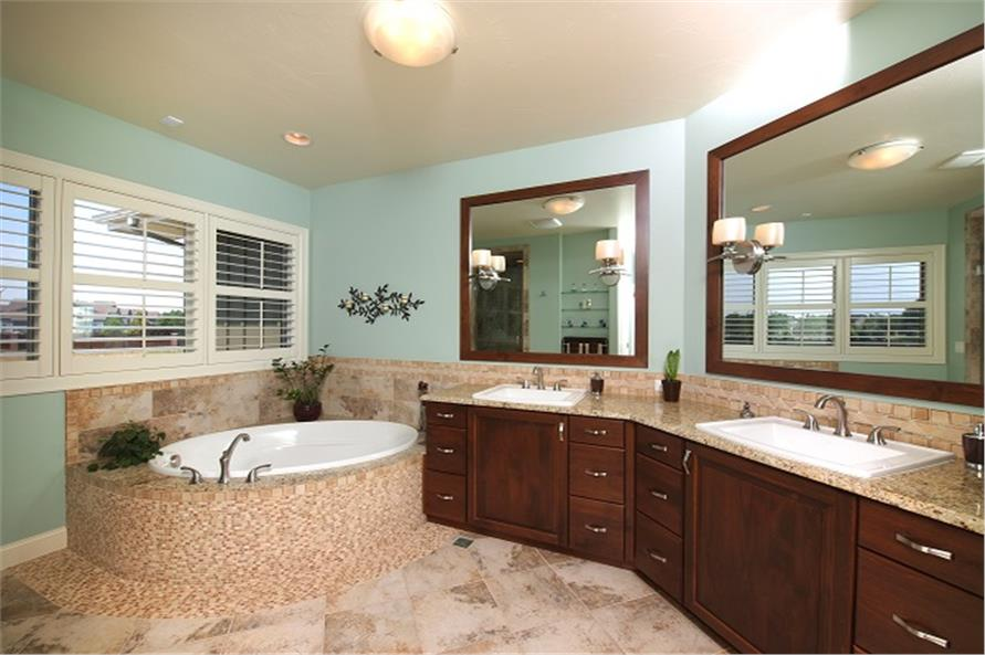 Master Bath of this 4-Bedroom,3307 Sq Ft Plan -3307