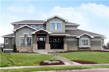 4-Bedroom, 3307 Sq Ft Craftsman Home Plan - 161-1052 - Main Exterior