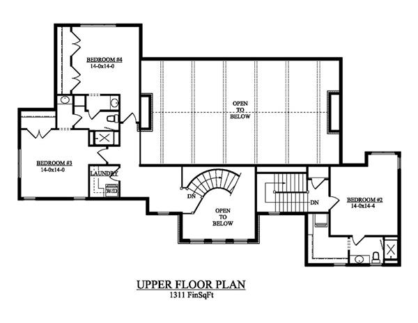 161-1053 house plan second level