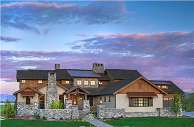 5-Bedroom, 7559 Sq Ft Texas Style Home Plan - 161-1053 - Main Exterior