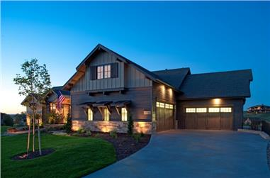 5-Bedroom, 7115 Sq Ft Luxury House Plan - 161-1054 - Front Exterior