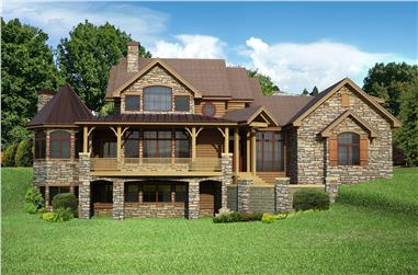 Front Elevation Photo of this Craftsman House (#161-1057) at The Plan Collection.
