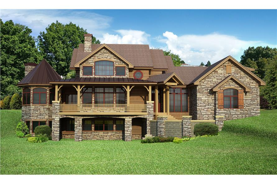 4-Bedroom, 4410 Sq Ft Craftsman Home Plan - 161-1057 - Main Exterior