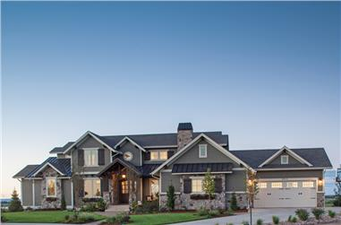 4-Bedroom, 3897 Sq Ft Luxury Home Plan - 161-1067 - Main Exterior