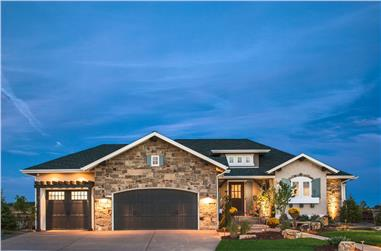 2-Bedroom, 1885 Sq Ft Traditional Home Plan - 161-1068 - Main Exterior