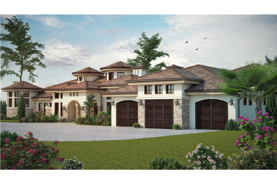 Home Plan Rendering of this 4-Bedroom,4660 Sq Ft Plan -4660