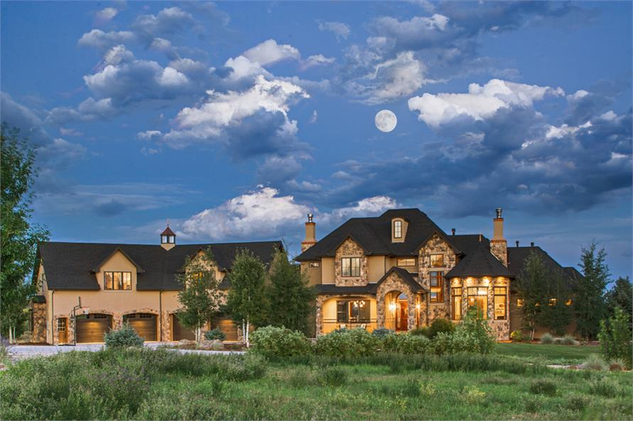 4-Bedroom, 5417 Sq Ft Luxury House Plan - 161-1070 - Front Exterior