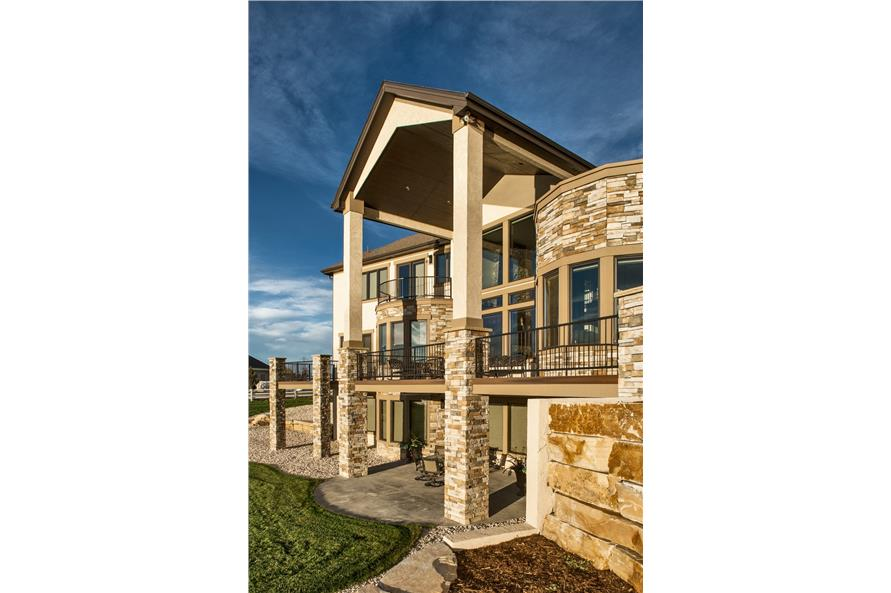 Rear View of this 4-Bedroom,5449 Sq Ft Plan -5449