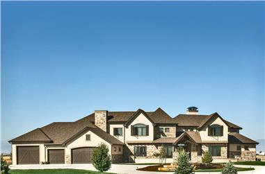 4-Bedroom, 5449 Sq Ft Luxury Home Plan - 161-1071 - Main Exterior
