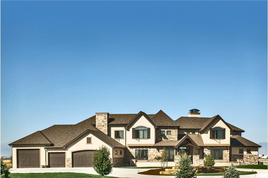 4-Bedroom, 5449 Sq Ft Luxury Home Plan - 161-1071 - Main Exterior