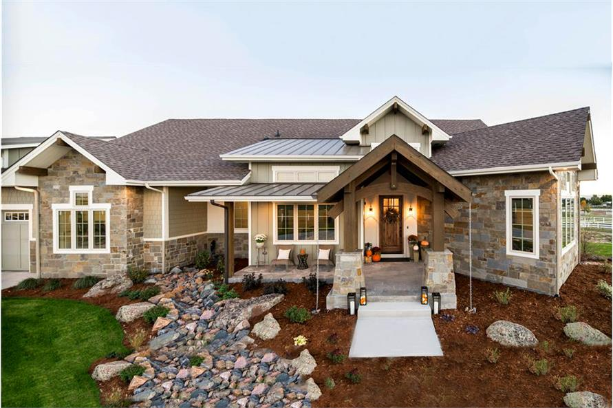 2-Bedroom, 2611 Sq Ft Country Home Plan - 161-1072 - Main Exterior