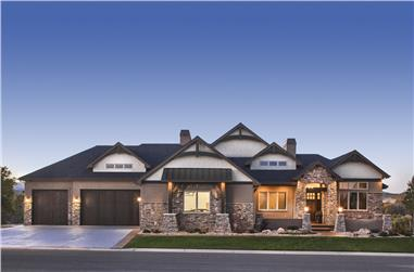 2-Bedroom, 2478 Sq Ft Luxury House Plan - 161-1073 - Front Exterior