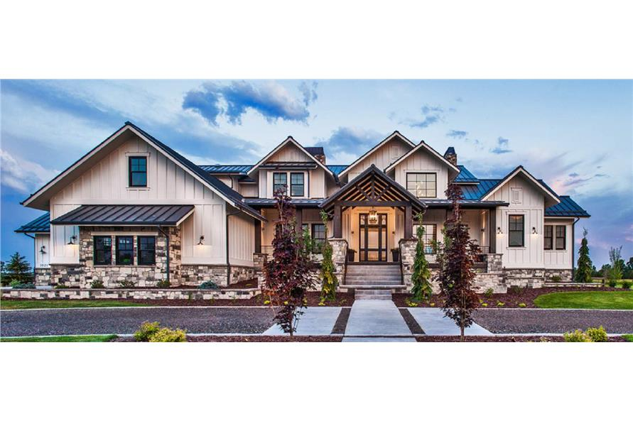 Front View of this 5-Bedroom,4784 Sq Ft Plan -161-1075